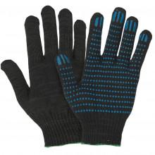 Перчатки ПВХ 5-нитки белые/черные