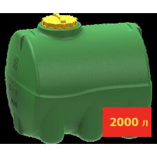 Емкость горизонтальная цилиндрическая 2000 литров