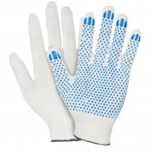 Перчатки ПВХ 4-нитки белые/черные