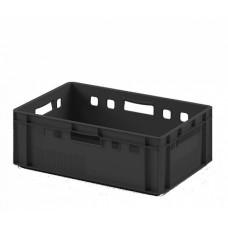 Ящик для мяса и колбасных изделий Е - 2 пластиковый, черный
