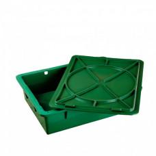 Ящик для молочных продуктов пластиковый с крышкой, зеленый