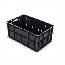 Ящик для мяса и колбасных изделий перфорированный, черный