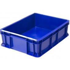 Ящик мясной под полуфабрикаты сплошной, синий