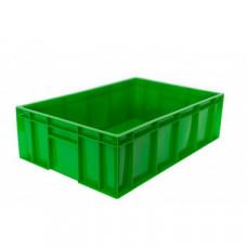 Ящик мясной под полуфабрикаты сплошной, зеленый